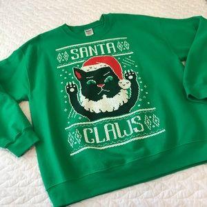 Men's Santa Claws Ugly Christmas Sweater Crewneck